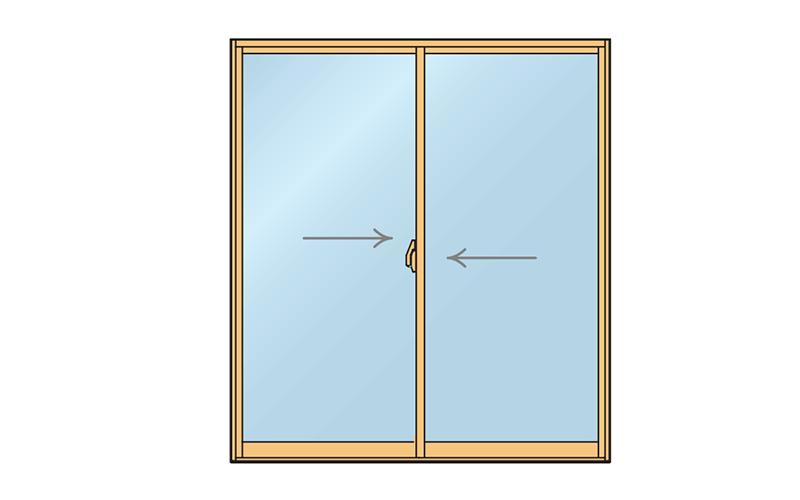引き違い窓2枚引き